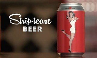 Conti Bier Lata Pin Up